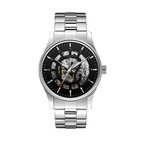 Caravelle New York by Bulova Watch - Men's Stainless Steel Automatic Skeleton (Grey)