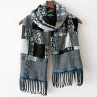 Men's Scarf - Black Grey Men's Scarf - Unisex Scarf - Winter Accessories - Men's Fashion - Christmas Gifts - Men Gifts - Gray Men Scarves