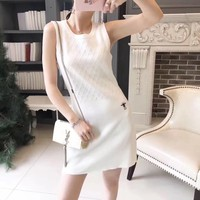 Dior Halter Crochet Stretch Bodycon Sleeveless Fashion Women  Dress