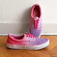 Pink & lilac ombre Vans Era sneakers, upcycled vintage shoes, size US Women's 8 (US Mens 6.5, UK 5.5, eu 38.5)