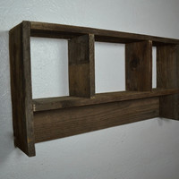 Shadow box wall shelf rustic style 21x11