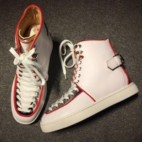 DCCK Cl Christian Louboutin Mid Style #2158 Sneakers Fashion Shoes