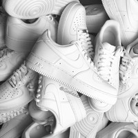 100% Original Nike Air Force 1 Af1 Low Woall White 315122-111 Classic All