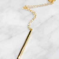 Golden Stick Necklace - Christine Elizabeth Jewelry