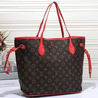 Tagre™ LV Women Shopping Leather Tote Handbag Shoulder Bag