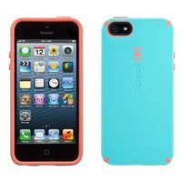 Speck SPK-A0481 CandyShell Cotton Candy Dandy Case for iPhone 5 - Speck Retail Packaging - Pool Blue/Wild Salmon Pink
