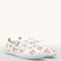 Rose Lace-Up Oxford Sneakers