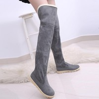 2018 New Winter Models Snow Boots Women Over The Knee Shoes Female In Tube Long Boots Feminino Zapatos Mujer Bota Size 34-43