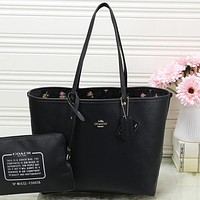 Coach Women Sell well Fashion Double Faced Material Handbag Shoulder Bag Set Two-Piece