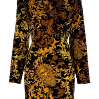 Versace Vintage brocade shift dress