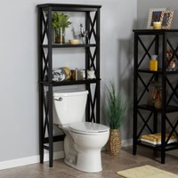 RiverRidge Home X-Frame Over-the-Toilet Spacesaver, Espresso - Walmart.com