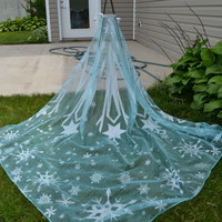 Disney FROZEN ELSA CAPE  Ready to wear   No Sewing   For child or adult.  Gorgeous!