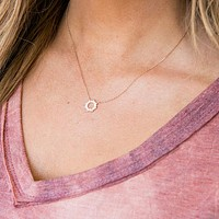 Circle Sun Pendant Necklace