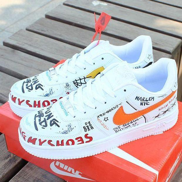 Image of Nike Air Force 1 AF1 Low Fashion Sneakers Shoes