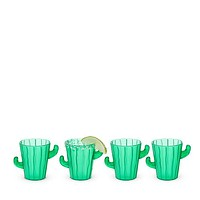 Cactus Shot Glasses, Set of 4 by True Zoo