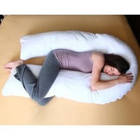 Junior Size - Total Body Pregnancy/ Maternity Pillow- Full Support - 1 Year Warranty - Exclusively By Blowout Bedding
