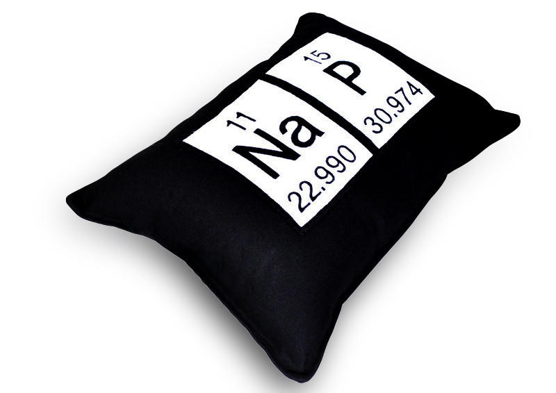 Image of Nap Periodic Table of Elements Throw Pillow