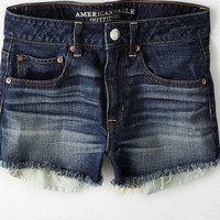 AEO Women's Hi-rise Festival Shortie (Dark Wash)