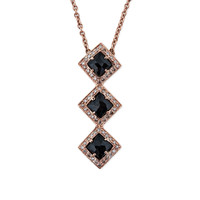 TRIPLE ONYX VERTICAL KITE NECKLACE