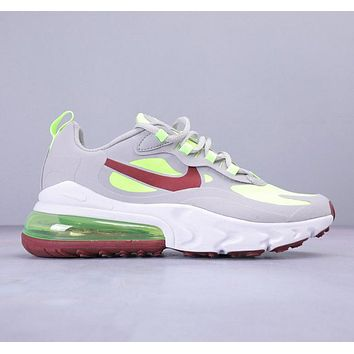 Nike Air Max 270 React Bauhaus Fashion New Hook Print Sports Leisure Contrast Color Shoes  Gray