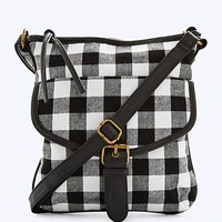 Black/White Buffalo Check Crossbody | rue21