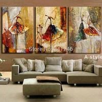 Hand Painted Modern Abstract Oil Painting on Canvas Wall Art picture for Living Room  Gift Ballet Dancer  Canvas Painting