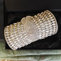 Luxury Sparkle Rhinestone Box Minaudiere Clutch