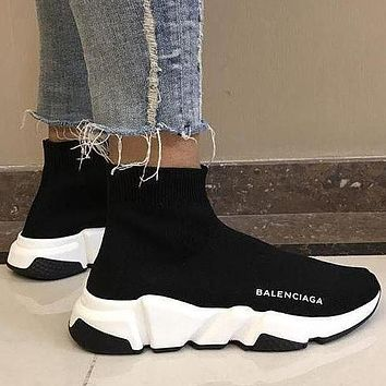 Balenciaga Speed Trainer Men And Women All-Match Thick-Soled Cushioning Socks Shoes