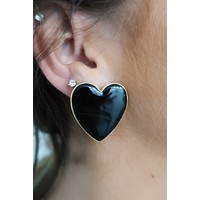 In My Heart Earrings: Black