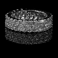 Diana CZ Paved Cluster Eternity Band Ring | 6ct