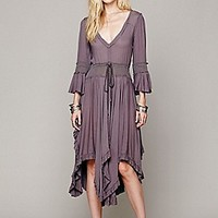 Free People  Roomy Ruffle Dress at Free People Clothing Boutique