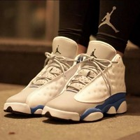 "Nike Air Jordan 13 ""Italy Blue"" For Men Women Sneaker"