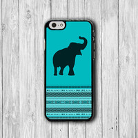 Color Indico Elephant Aztec iPhone 6 Case, Animal Art iPhone 6 Plus Cover, iPhone 5S, iPhone 4S Hard Case, Rubber Cover Art Accessories Gift