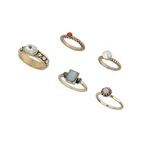 Pastel Stone Ring Pack