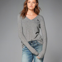 Womens Cashmere Icon V-Neck Sweater | Womens New Arrivals | Abercrombie.com