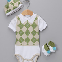 Green Sweet Tee Golf Layette Set - Infant   something special every day