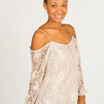 Solemio Lace Top- Black Lace Tunic- Taupe Bell Sleeve Top- Black Dolman Sleeve Tee- Nude Lace Long Sleeve Blouse- Off the Shoulder Top- Cold Shoulder Top Womens Tops - Womens Tank Tops - Womens Blouses - Womens Casual Tops - Dressy Tops from For Elyse