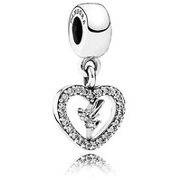 Disney Parks Tinker Bell In Heart Bracelet Charm By Pandora New With Tags