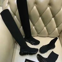 GUCCI x Balenciaga Elastic Knitted socks boots sneaker sports shoes top quality BLACK