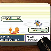 Pokemon Battle Phase Charmander & Squirtle Mouse Pad