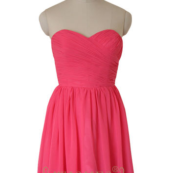 A-line Sweetheart Chiffon Bridesmaid Dresses AM530