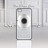 CANON IXUS, Design For iPhone 4/4s Case or iPhone 5 Case - Black or White (Option)
