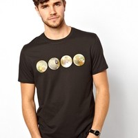 Paul Smith Jeans T-Shirt in Planets Print Regular Fit