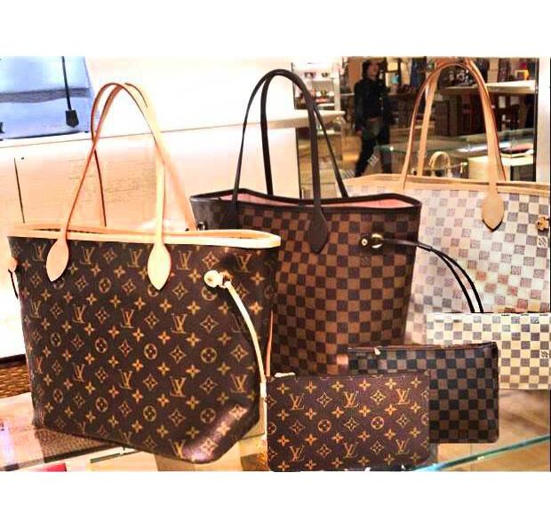 Image of LV Louis Vuitton Handbag Women Leather Bag Tote Shoulder Bag Two piece And Key pouch-Coin purse