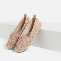 LEATHER ESPADRILLES WITH STARS