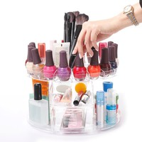 Modern Home Deluxe Rotating Clear Cosmetic Makeup Organizer