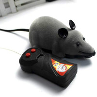 3 Colors RC Wireless Remote Control Rat Mouse Toy For Cat Dog Pet Black/Grey/Brown