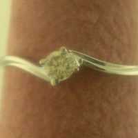New Genuine Diamond Promise Solitaire Ring 10kt White / Yellow Gold SIZE 3-10