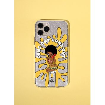 Suns Out Buns Out Glitter Phone Case