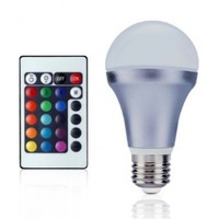 LE Dimmable A19 E26 RGB LED Bulbs, Color Changing, 160° Beam Angle, 5W, 16 Color Choice, Remote Controller Included, LED Light Bulbs